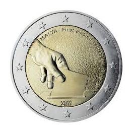 2 euro 2011 Malta Historia Konstytucyjna - Pierwsze wybory reprezentantów w 1849 roku
