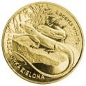 Jaszczurka zielona moneta 2 zł Nordic Gold z serii Zwierzęta Świata