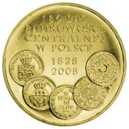 180 lat bankowości centralnej w Polsce 2 zł NG